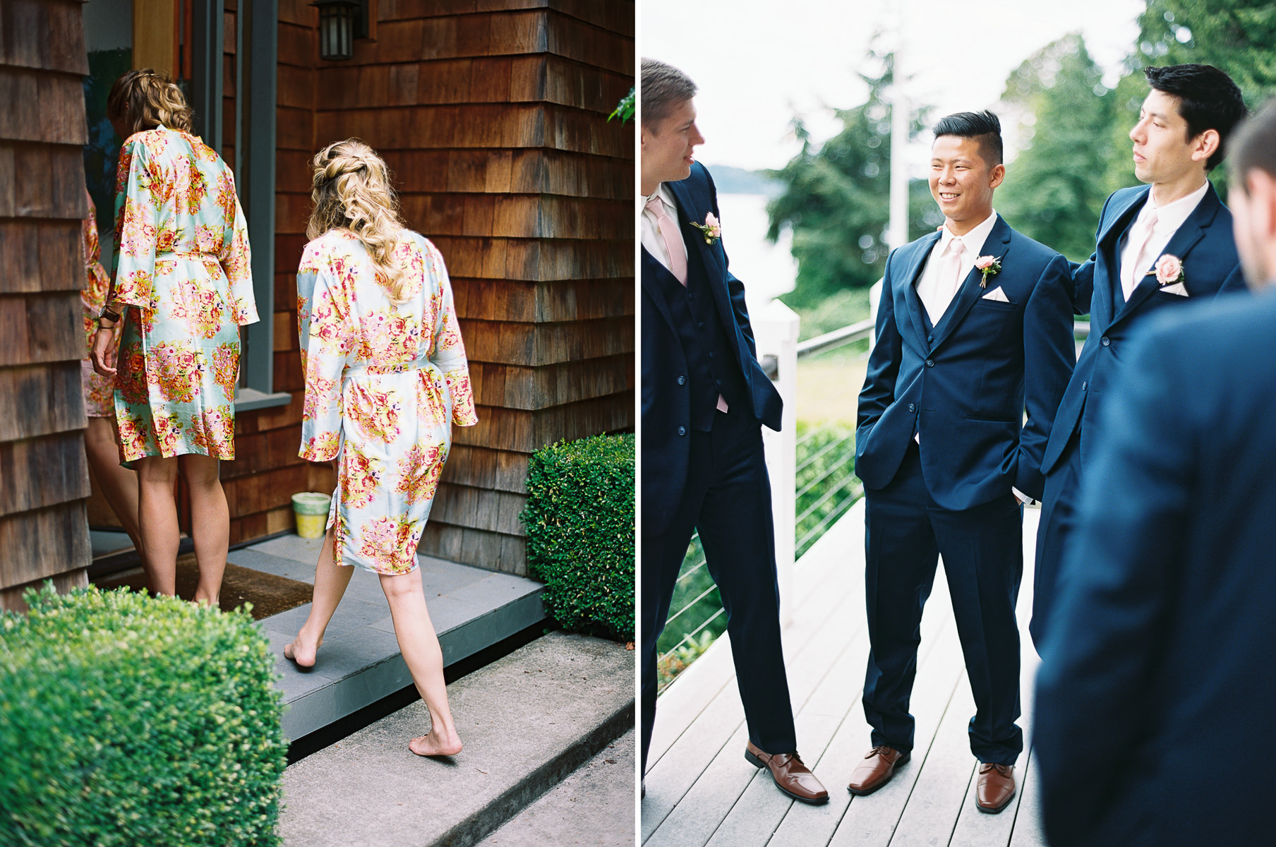 Getting ready for a summer Kiana Lodge wedding by Seattle Wedding Photographer Anna Peters