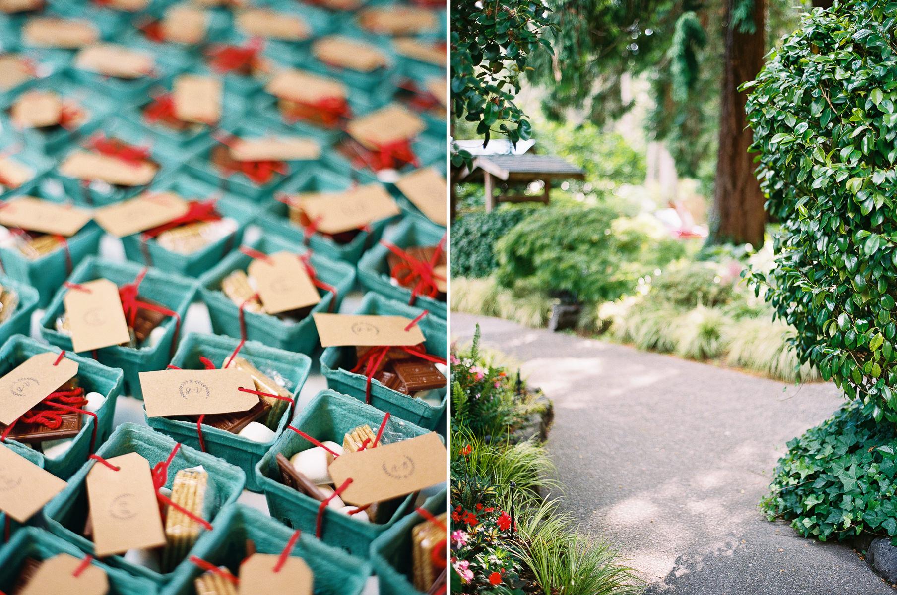 S'mores wedding favors at an Elegant Kiana Lodge Wedding