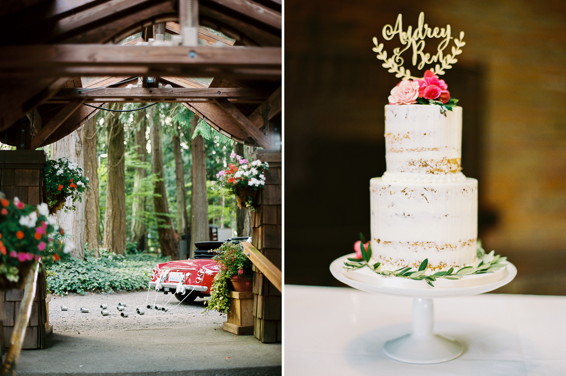 Elegant details at a Kiana Lodge wedding