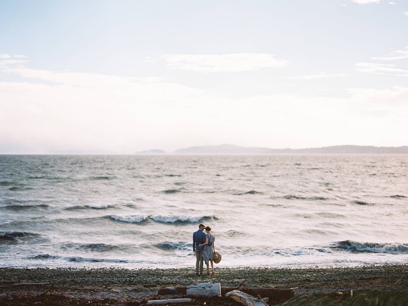 Nature-Inspired Discovery Park Engagement Photos by Seattle Wedding Photographer Anna Peters