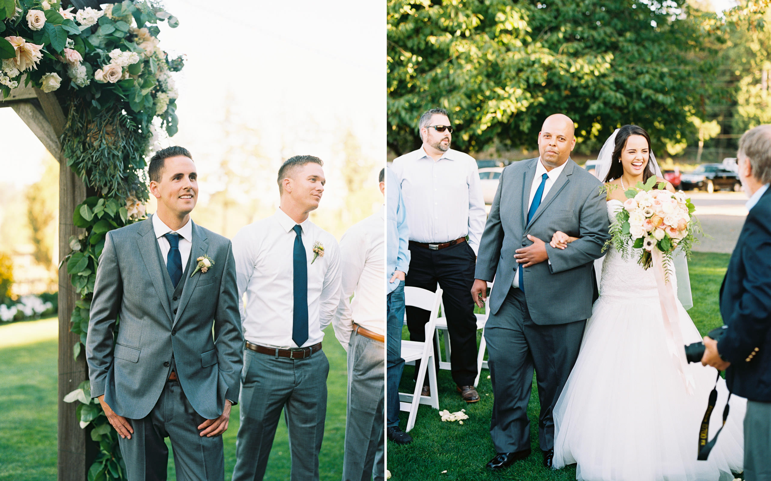Fall Wedding Ceremony at Kelley Farms   Seattle Wedding Photographer Anna Peters