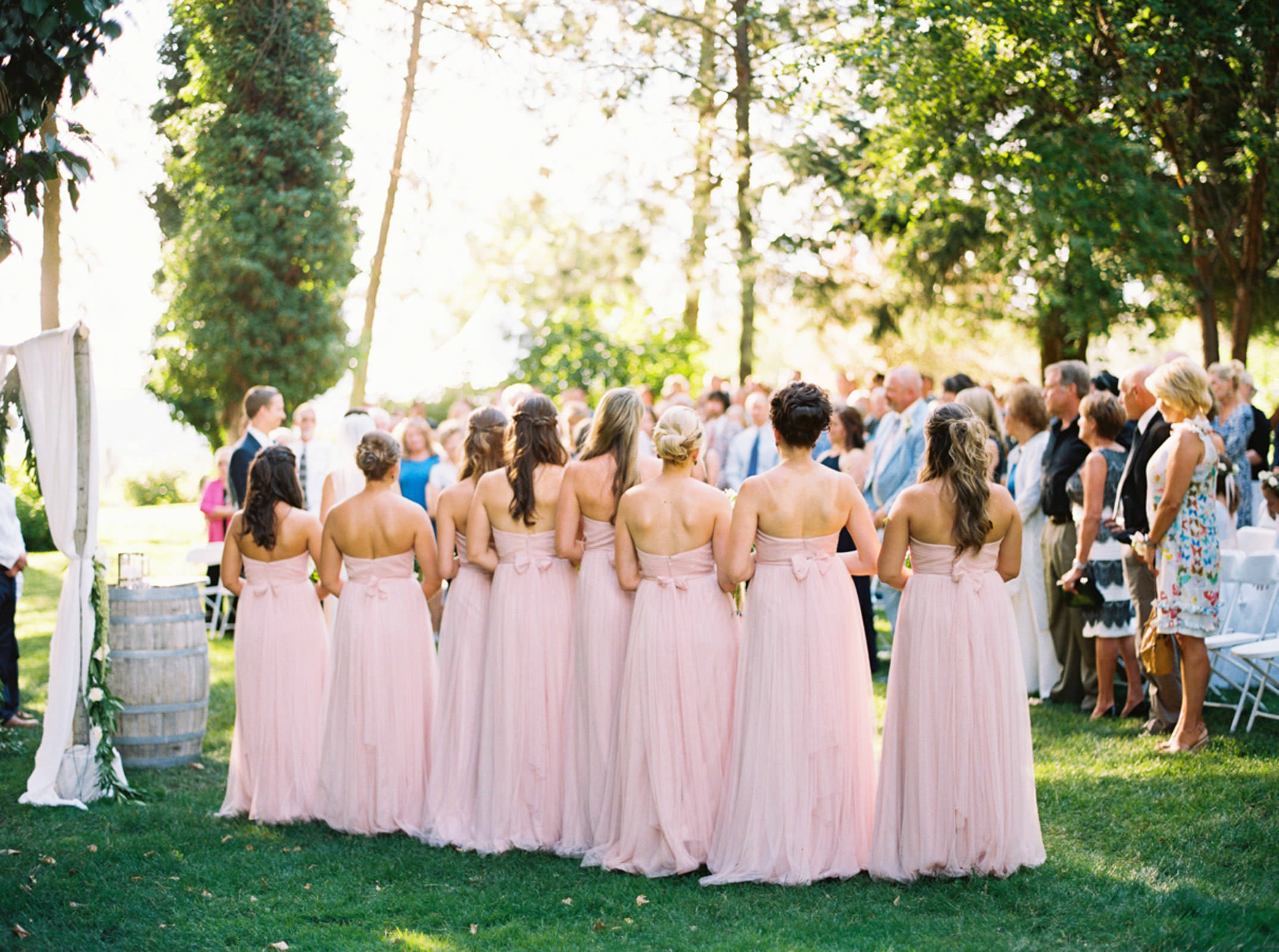 Outdoor Wedding Venue in Spokane, Arbor Crest winery photographed by Spokane Wedding Photographer Anna Peters