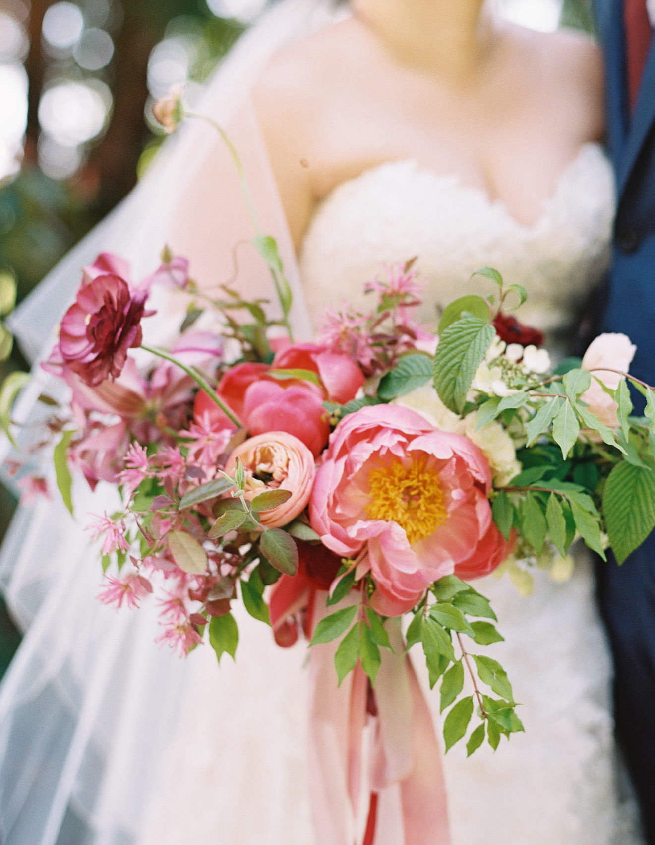 Vibrant spring wedding flowers