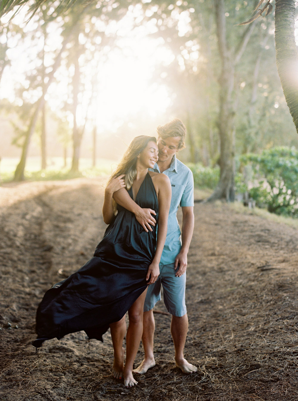 Oahu Engagement Session at Turtle Bay Resort