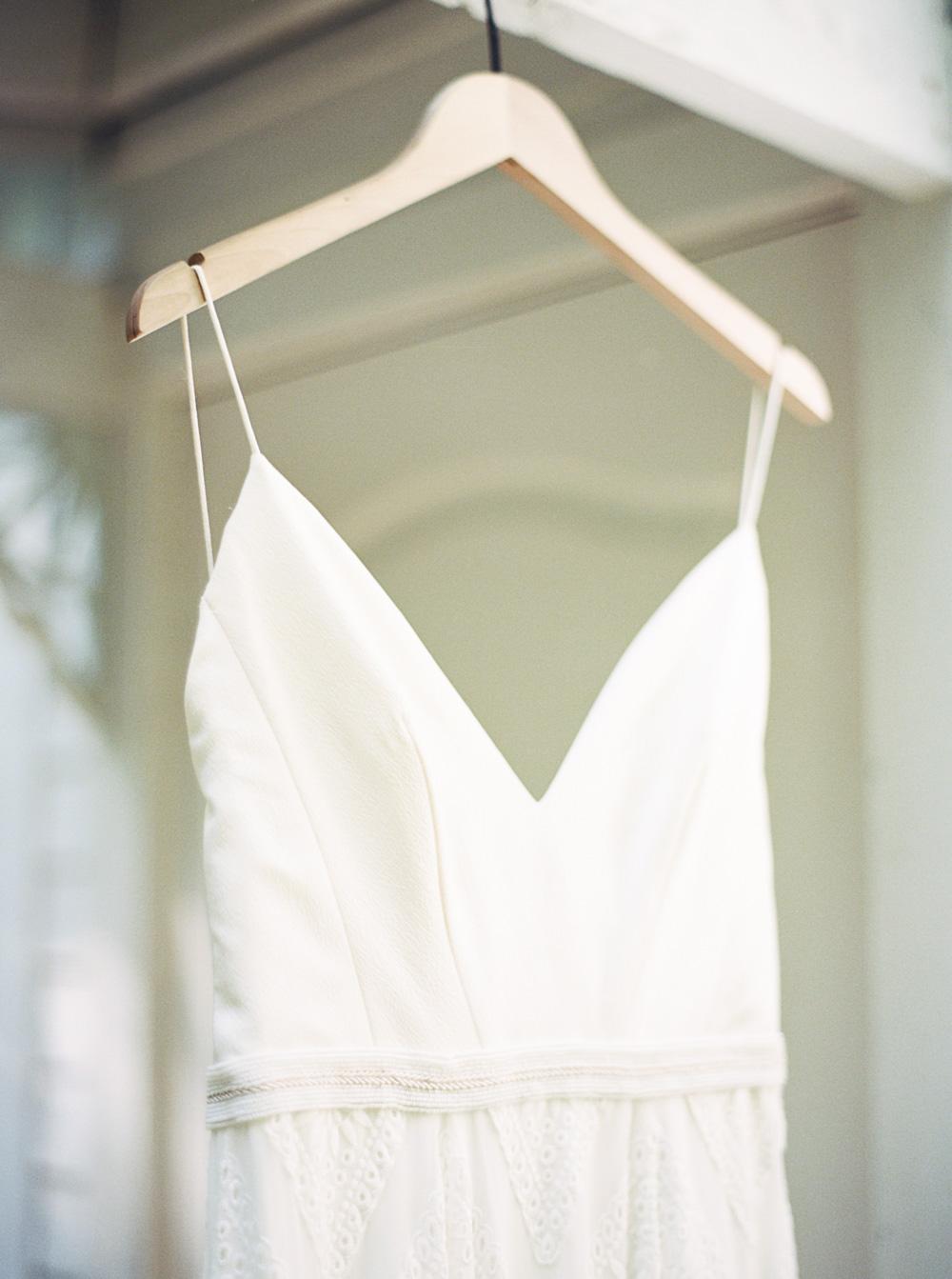 Wedding dress at Wellspring Spa Wedding Venue