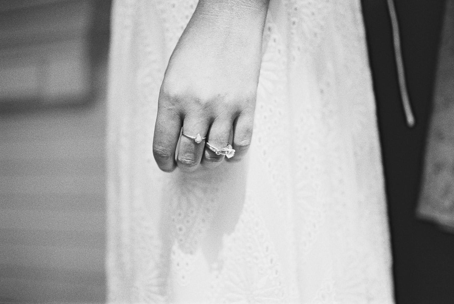Weddings rings of Wellspring Spa Bride before ceremony near Mt Rainier