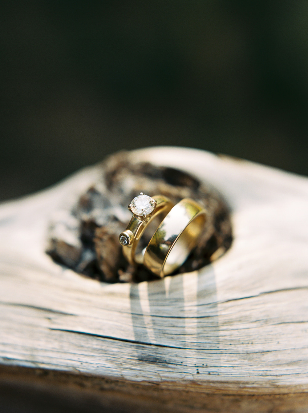 Wedding rings at Wellspring Spa Wedding at Mt. Rainier by Seattle Wedding Photographer Anna Peters