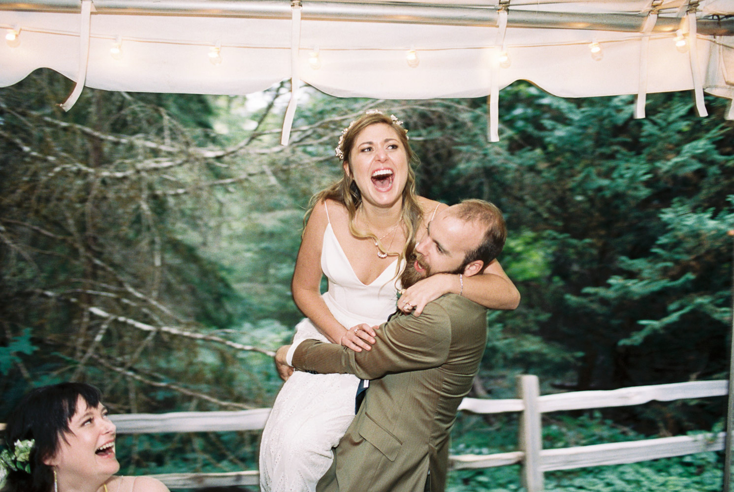 Wellspring Spa Wedding Reception at Mt. Rainier by Seattle Wedding Photographer Anna Peters