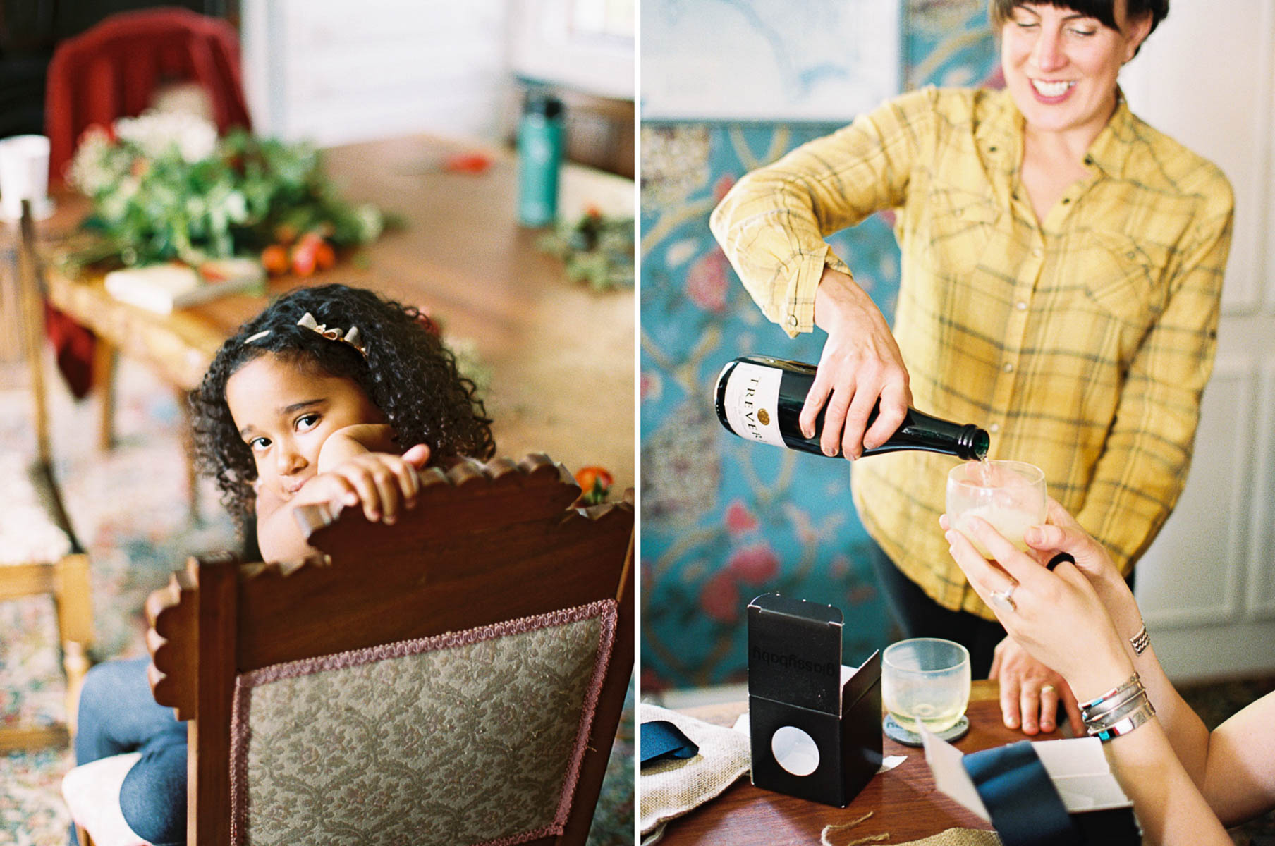 Getting ready at Crockett Farm, by Whidbey Island Wedding Photographer Anna Peters