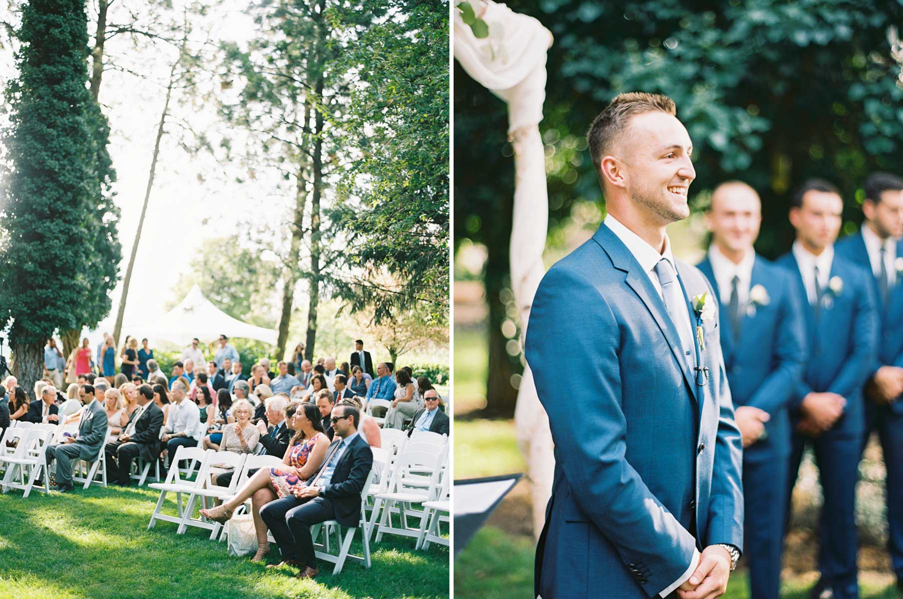 Wedding ceremony at Arbor Crest Winery by Spokane Wedding Photographer Anna Peters