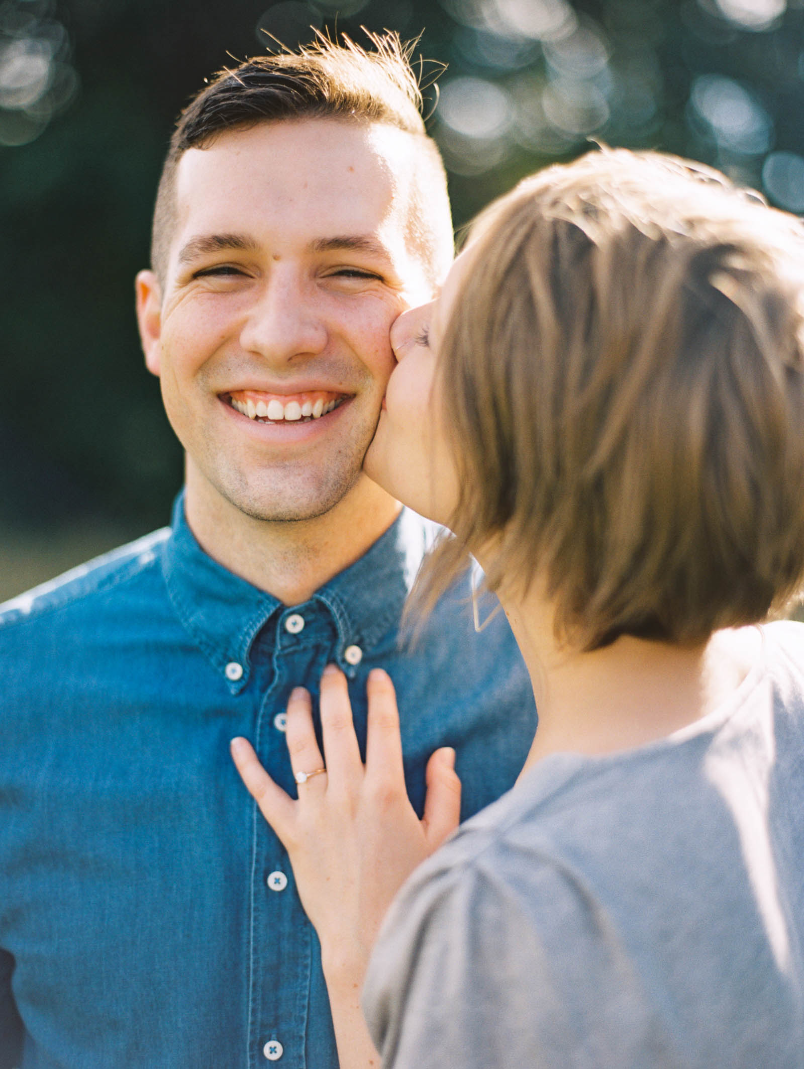 Authentic Seattle Engagement Session at Discovery park captured by top Seattle Wedding Photographer Anna Peters