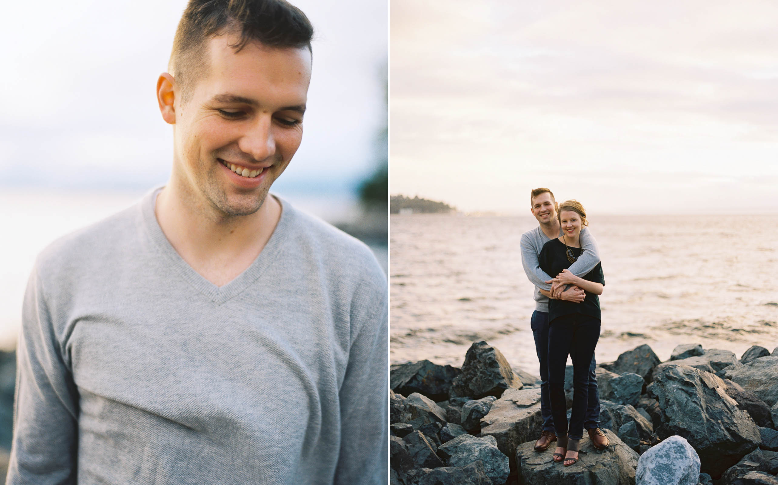 Relaxed and authentic engagement portraits by Seattle Wedding Photographer Anna Peters
