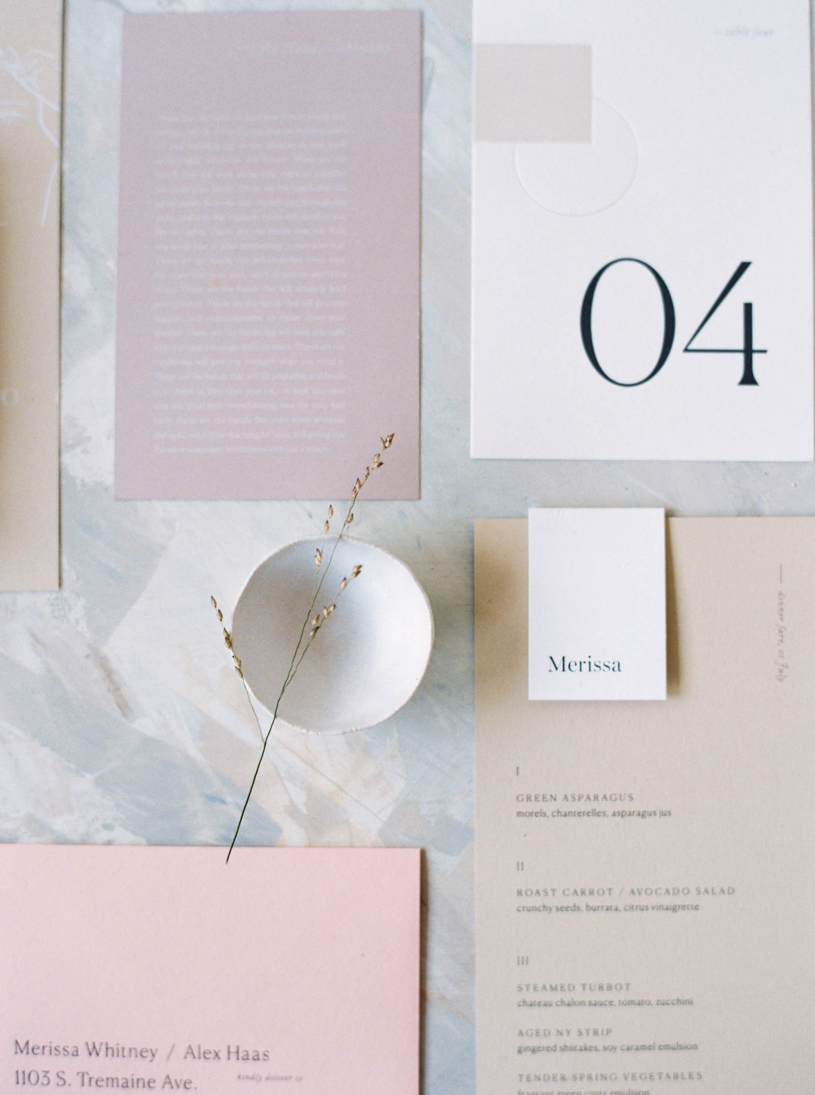 Modern Wedding Invitation suite by Kaela Rawson photographed by Anna Peters in Seattle, Washington