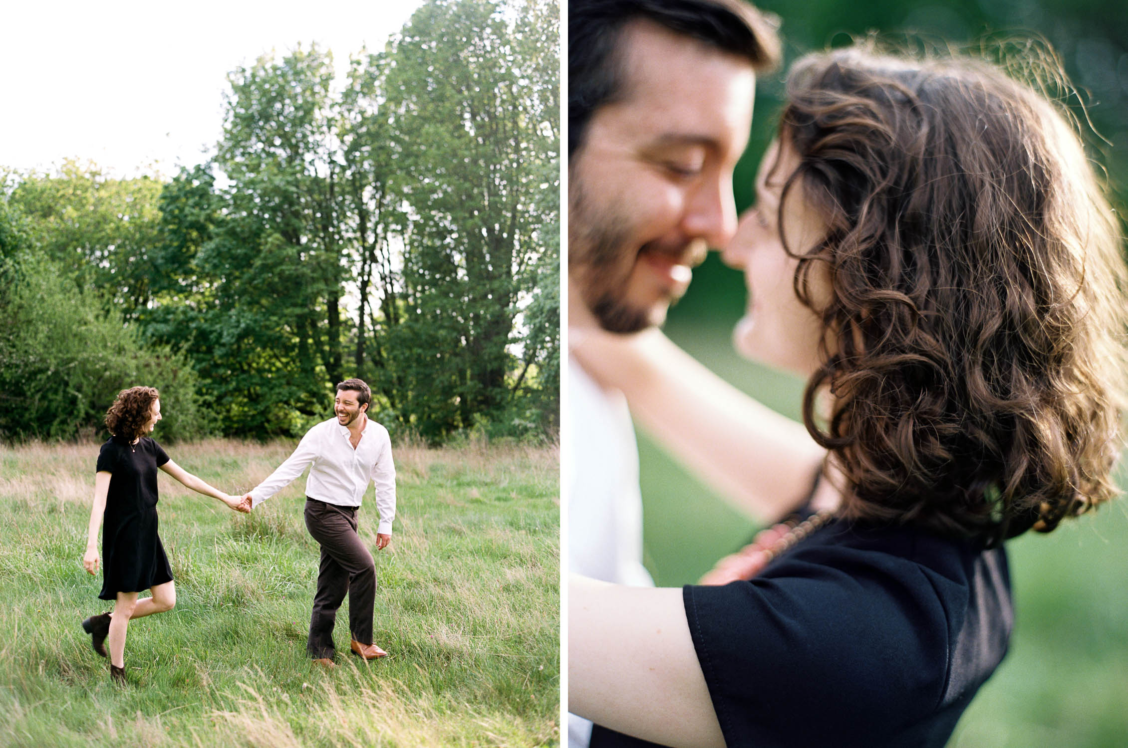 Seattle Engagement session at Discovery Park, captured on Film by Anna Peters