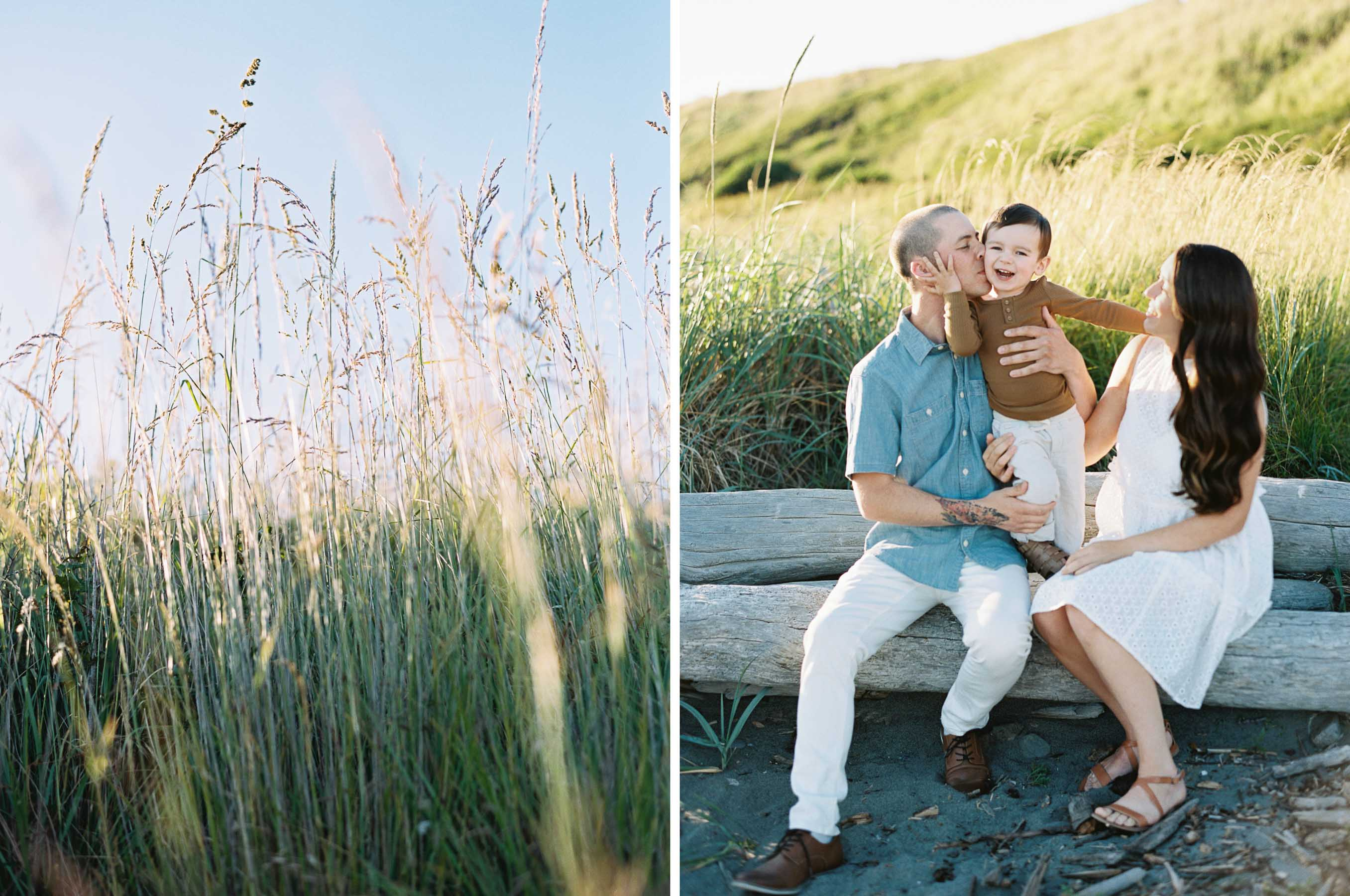 Elegant family portraits on Whidbey Island by top film photographer Anna Peters