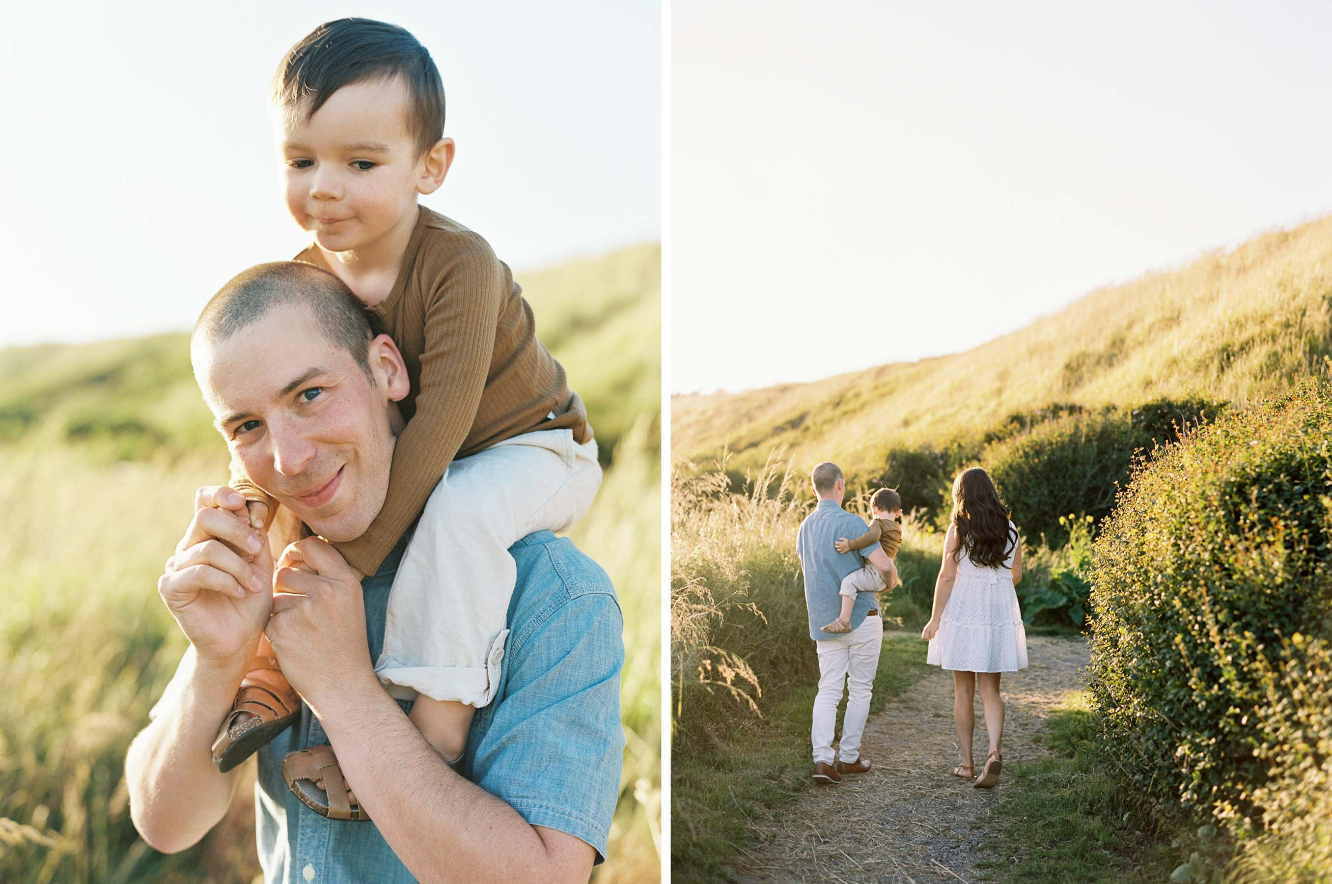 Fun and elegant family session on Whidbey Island