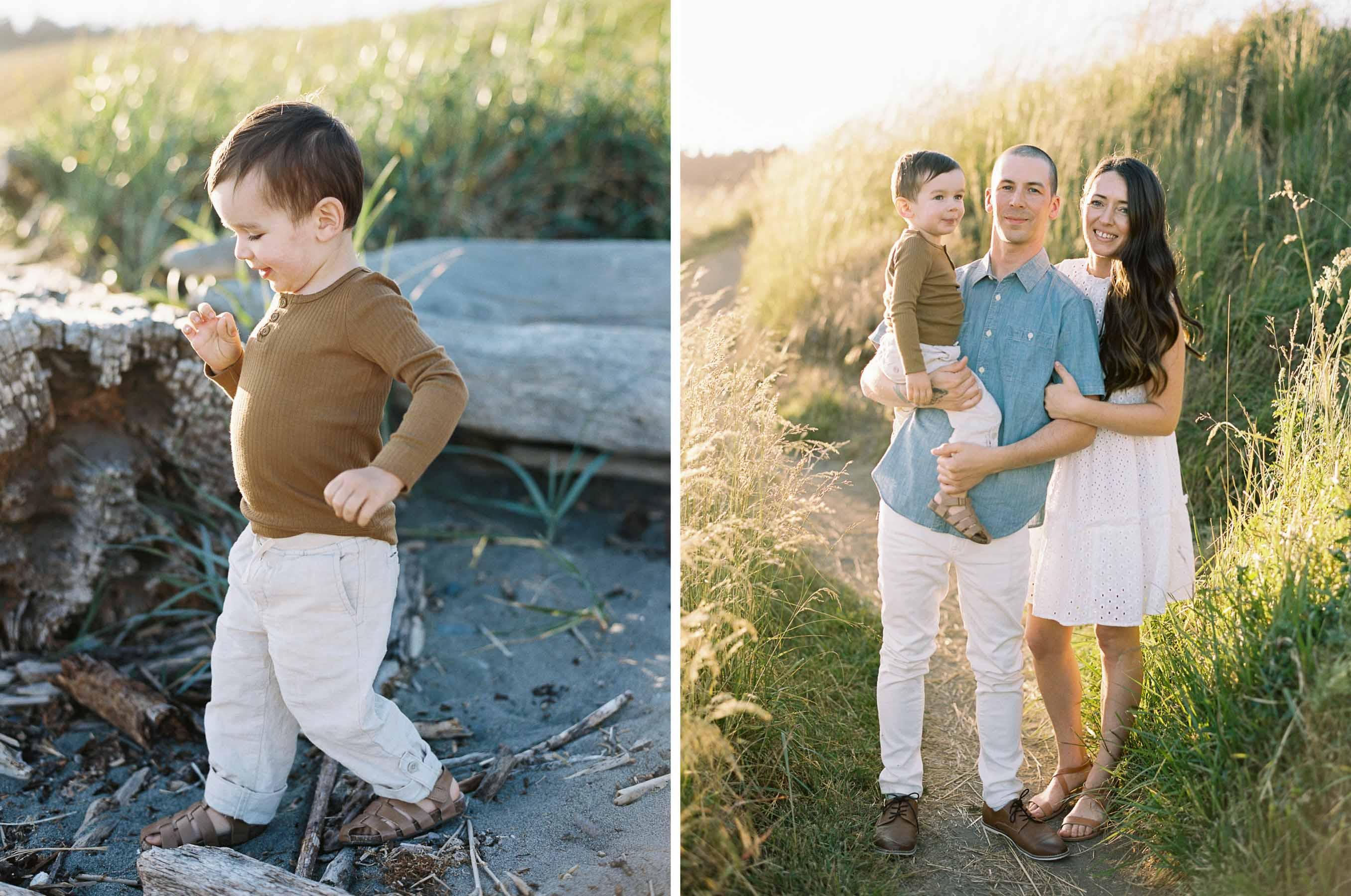 Relaxed family session near Seattle by Anna Peters