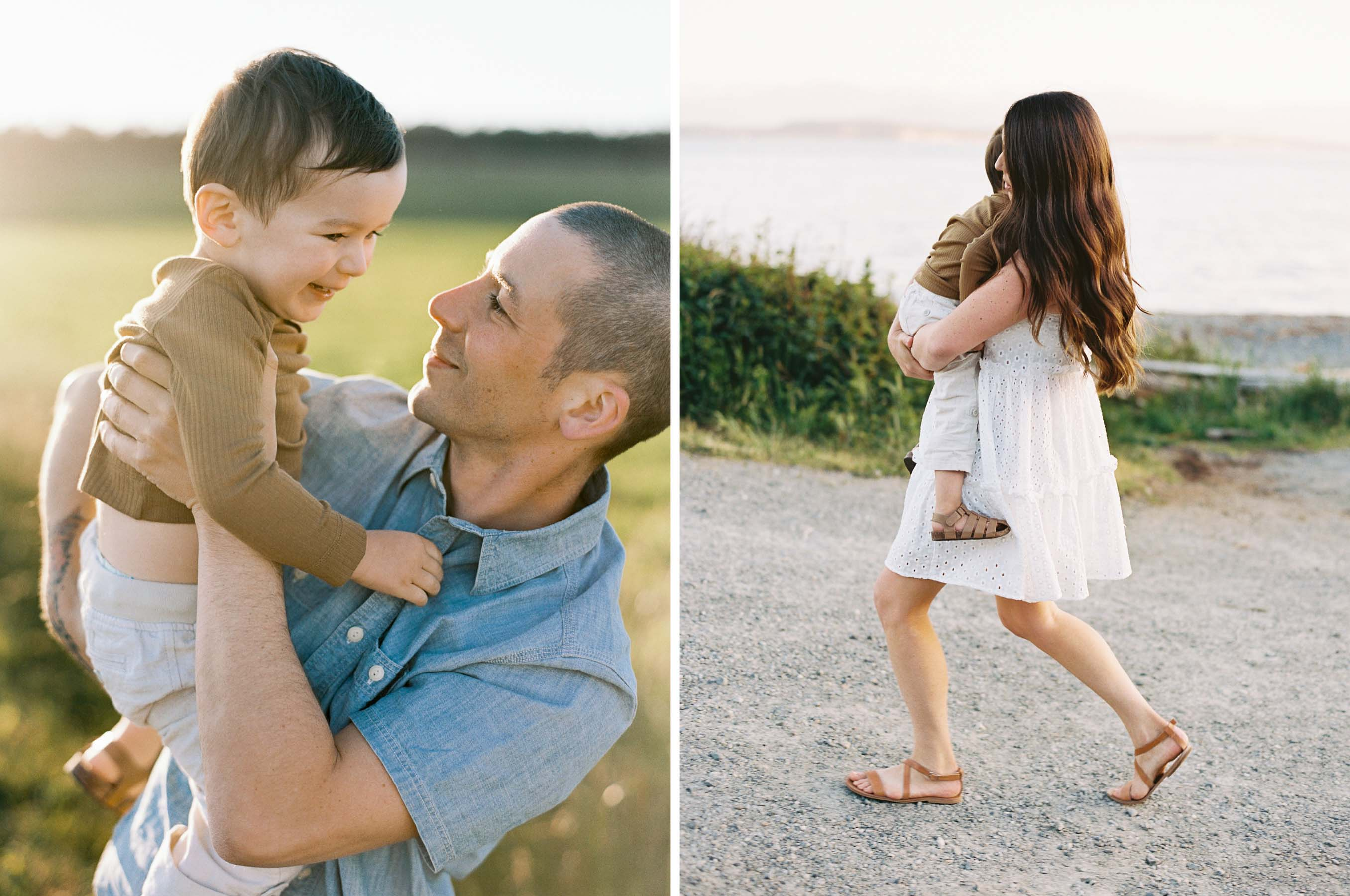 Candid and joyful family photography in Seattle captured on film by Anna Peters