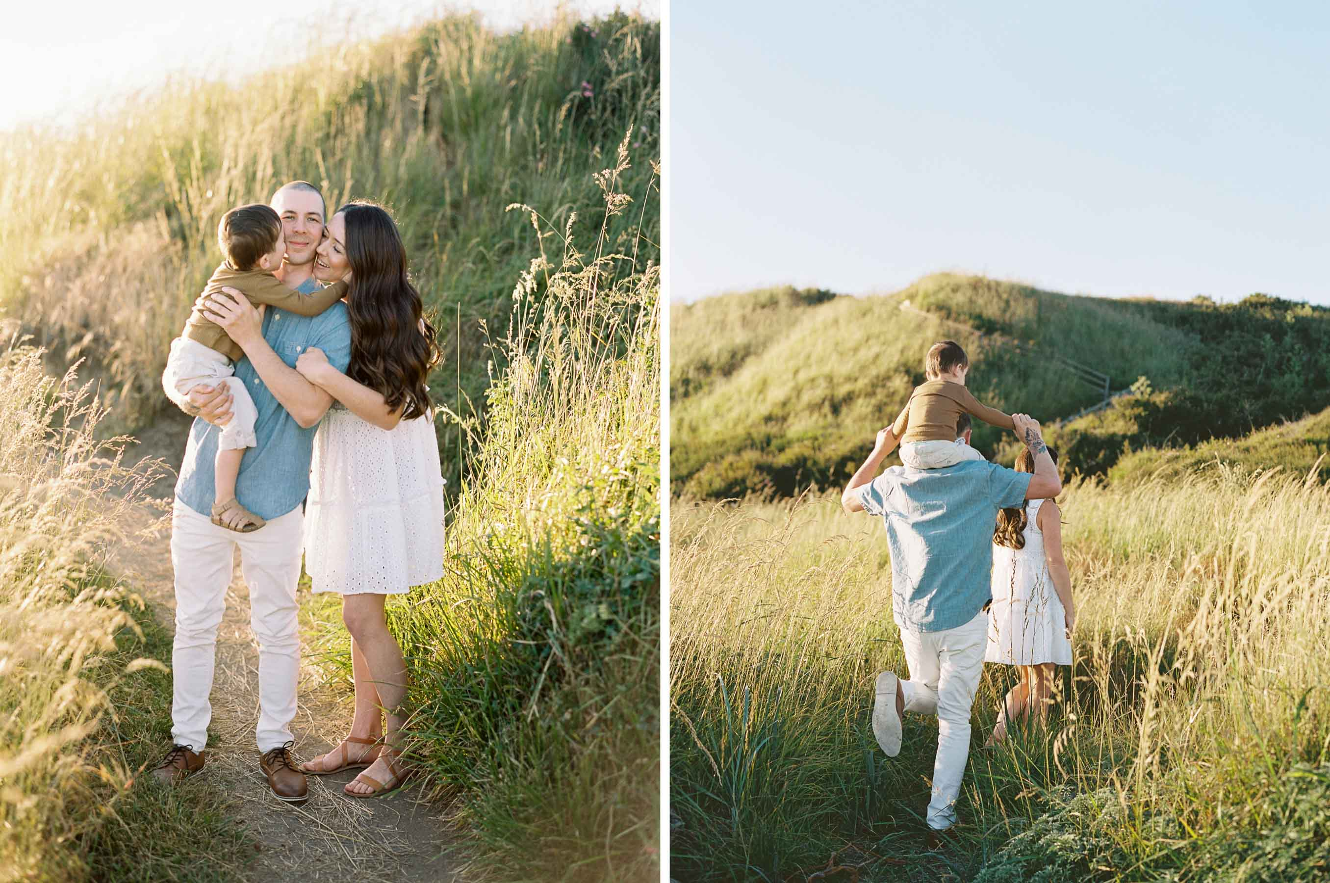 Sweet family portraits captured on film by Seattle lifestyle photographer Anna Peters