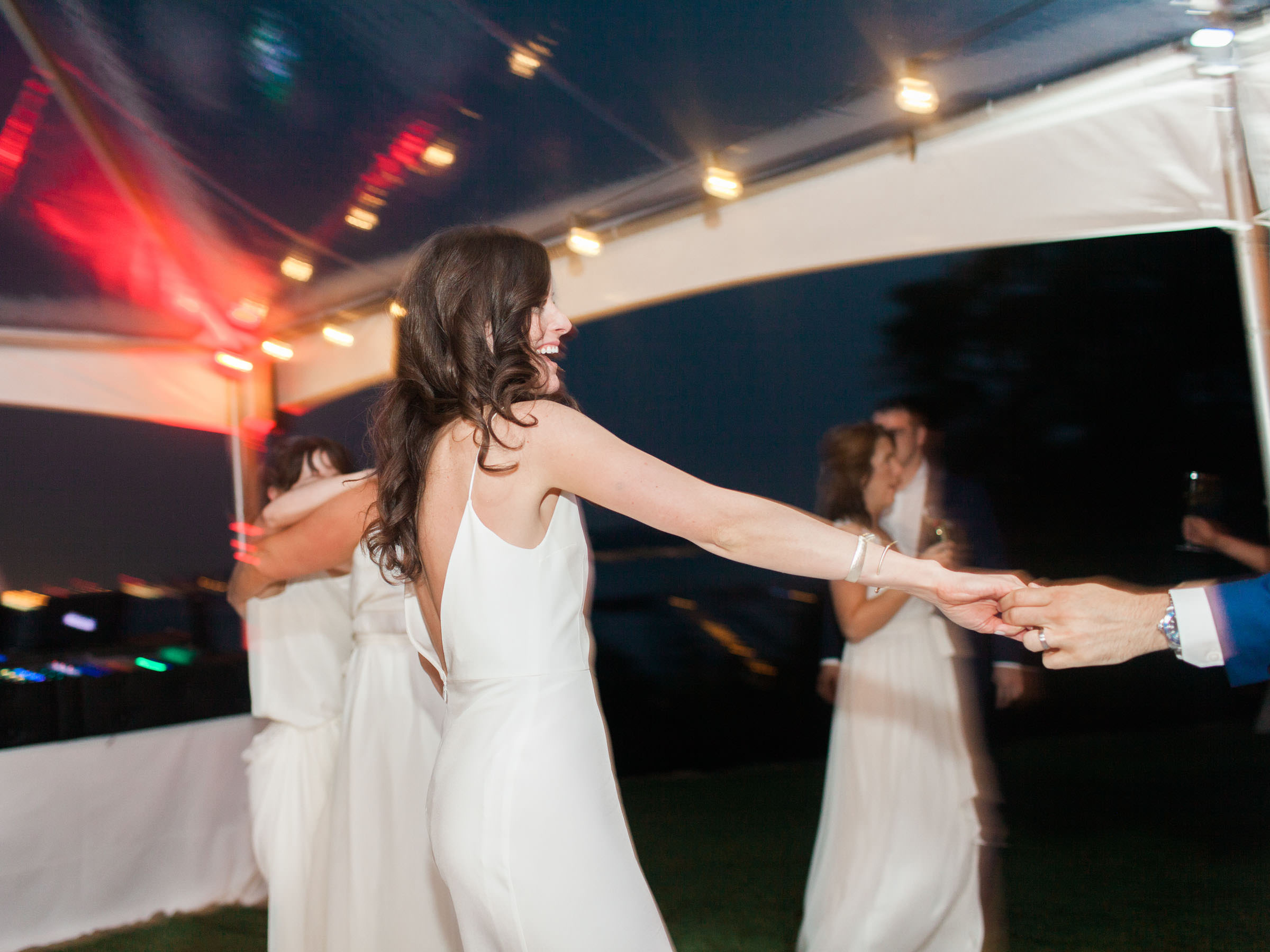 Bride on the dance floor at a The Admiral's House wedding in Seattle